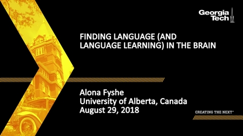 Thumbnail for entry Alona Fyshe - Finding Language (and Language Learning) in the Brain