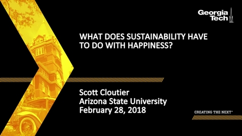 Thumbnail for entry What Does Sustainability Have to Do with Happiness? - Scott Cloutier