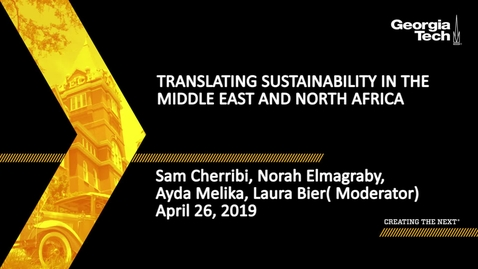 Thumbnail for entry Translating Sustainability in the Middle East and North Africa