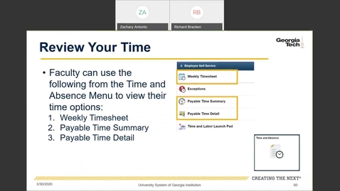 Thumbnail for entry Introduction to Employee Self-Service and Faculty Self-Service -- Time Entry in Employee Self-Service