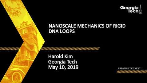 Thumbnail for entry Harold Kim - Nanoscale mechanics of rigid DNA loops