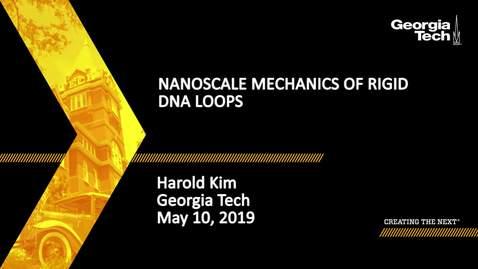 Thumbnail for entry Harold Kim - Nanoscale mechanics of rigid DNA loops