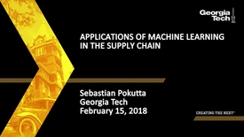 Thumbnail for entry Applications of Machine Learning in the Supply Chain - Sebastian Pokutta