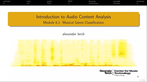 Module 8 1 – Music Genre Classification | Audio Content Analysis