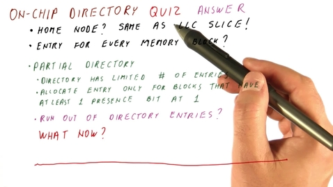 Thumbnail for entry CS6290_Many Core_On Chip Directory Quiz_ANS
