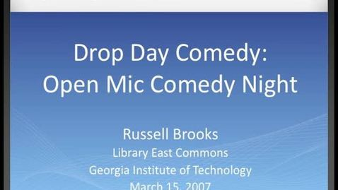 Thumbnail for entry Russell Brooks - Drop Day Comedy - Open Mic Comedy Night