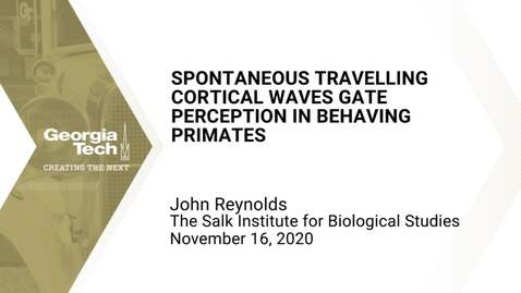 Thumbnail for entry John Reynolds - Spontaneous travelling cortical waves gate perception in behaving primates