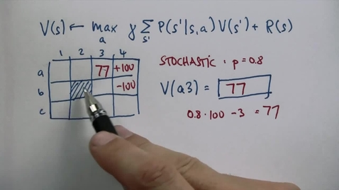 Thumbnail for entry CS6601_10. Planning under Uncertaint_Stochastic Question 2_QUES