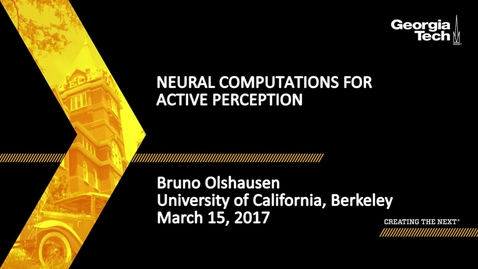 Thumbnail for entry Neural computations for active perception - Bruno Olshausen