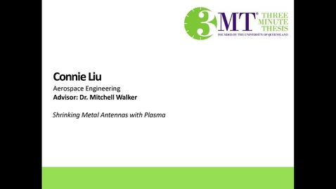 Thumbnail for entry Connie Liu - Replacing Metal Antennas with Plasma