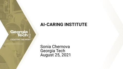 Thumbnail for entry Sonia Chernova - AI-CARING Institute