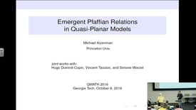Thumbnail for entry Emergent Pfaffian Relations in QuasiPlanar Models - Michael Aizenman