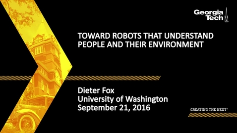 Thumbnail for entry Toward Robots that Understand People and Their Environment - Dieter Fox