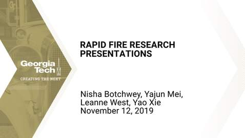 Thumbnail for entry Health Systems: The Next Generation 2019 - Rapid Fire Research Presentations