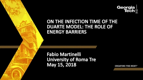 Thumbnail for entry On the infection time of the Duarte model: the role of energy barriers - Fabio Martinelli