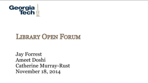 Thumbnail for entry 11-18-2014 Library Open Forum