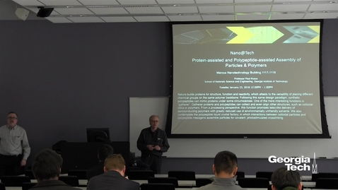 Thumbnail for entry Protein-assisted and Polypeptide-assisted Assembly of Particles and Polymers - Paul Russo