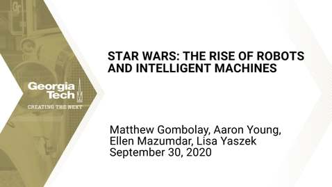 Thumbnail for entry Star Wars: The Rise of Robots and Intelligent Machines