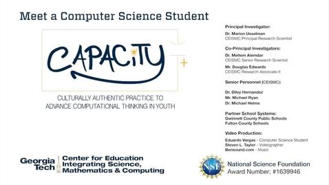 Thumbnail for entry Eduardo Vargas - Meet a Computer Science Student