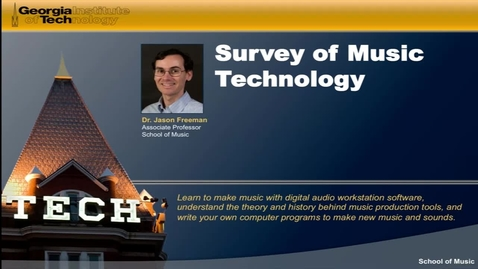 Thumbnail for entry Survey of Music Technology