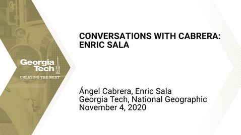Thumbnail for entry Conversations with Cabrera: Enric Sala