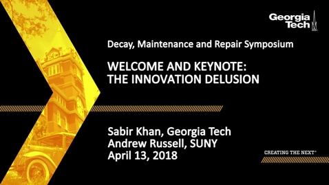 Thumbnail for entry Decay, Maintenance and Repair Symposium - Sabir Khan, Andrew Russell