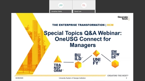 Thumbnail for entry Special Topics Q & A Webinar: Managers