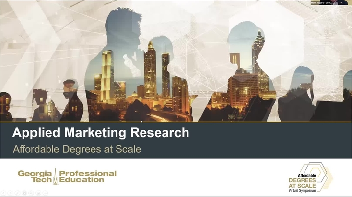 Thumbnail for channel Affordable Degrees at Scale Symposium | March 2021