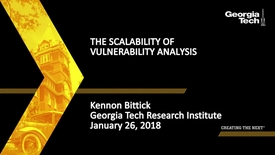 Thumbnail for entry  Kennon Bittick - The Scalability of Vulnerability Analysis