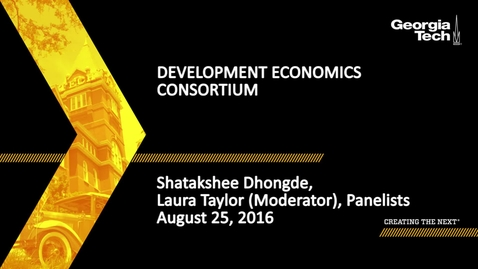 Thumbnail for entry Development Economics Consortium
