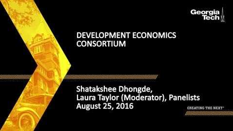 Thumbnail for entry Development Economics Consortium