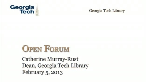 Thumbnail for entry 2-5-2013 Library Open Forum