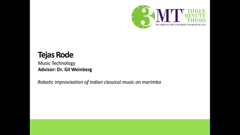 Thumbnail for entry Tejas Rode - Robotic Improvisation of Indian Classical Music on Marimba