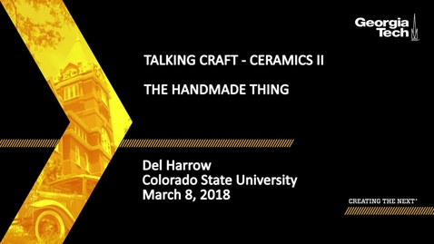 Thumbnail for entry The Handmade Thing - Del Harrow