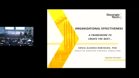 Thumbnail for entry Intro to Organizational Effectiveness