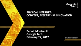 Thumbnail for entry Physical Internet: Concept, Research & Innovation - Benoit Montreuil