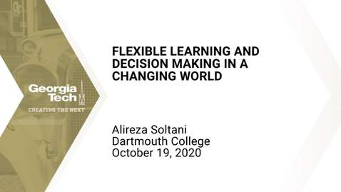 Thumbnail for entry Alireza Soltani - Flexible Learning and Decision Making in a Changing World