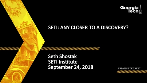 Thumbnail for entry Seth Shostak - SETI: Any Closer to a Discovery?