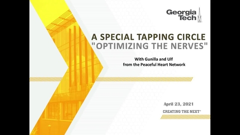"""Thumbnail for entry Tapping Circle """"Optimizing the Nerves"""" (04/23/2021)"""