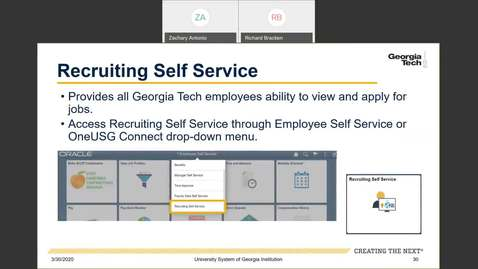 Thumbnail for entry Introduction to Employee Self-Service and Faculty Self-Service--ESS Tiles: Recruiting Self Service