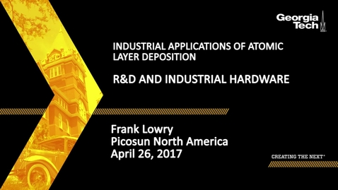 Thumbnail for entry Session 3: R&D and Industrial Hardware - Frank Lowry