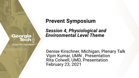 Thumbnail for entry Prevent Symposium - Session 4, Physiological and Environmental Level Theme