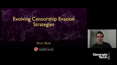 Thumbnail for entry Kevin Bock - Automating the Discovery of Censorship Evasion Strategies