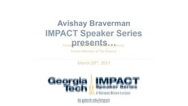 Thumbnail for entry On Economics, Justice, and Leadership in a Troubled World - Avishay Braverman