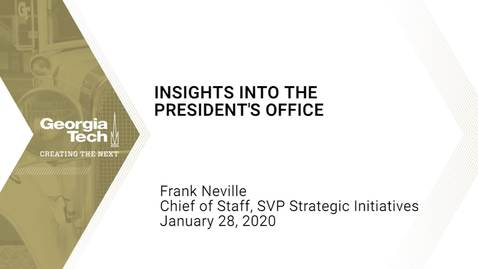 Thumbnail for entry Frank Neville - Insights into the President's Office