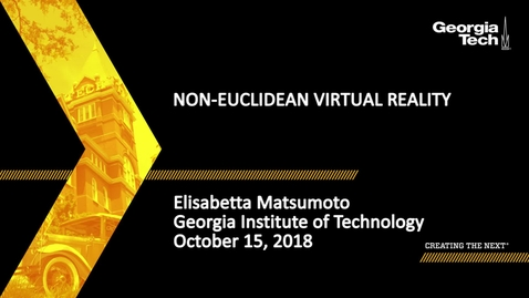 Thumbnail for entry Elisabetta Matsumoto - Non-Euclidean Virtual Reality