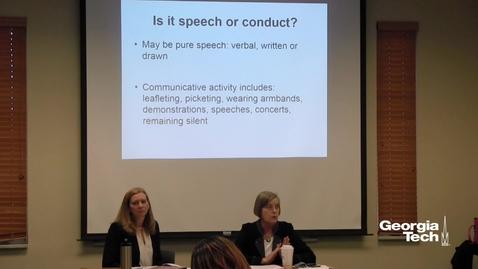 Thumbnail for entry Free Speech, Political Correctness – Any Boundaries? - Kathleen T. Gosden, Kathleen A. Wasch