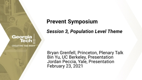 Thumbnail for entry Prevent Symposium - Session 3, Population Level Theme