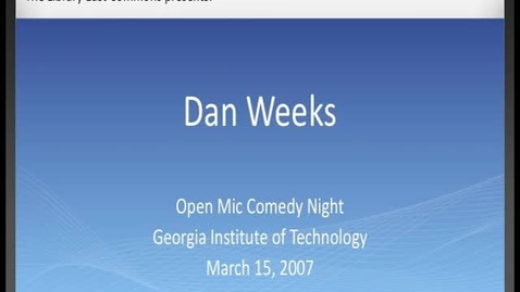 Thumbnail for entry Dan Weeks - Drop Day Comedy - Open Mic Comedy Night