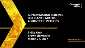 Thumbnail for entry Approximation Schemes for Planar Graphs: A Survey of Methods - Philip Klein